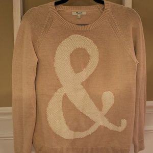 Madewell Ampersand Sweater Small